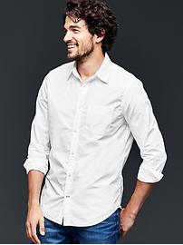 Lived-in wash solid shirt