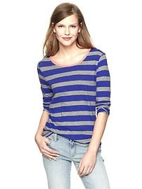 Luxe jersey striped ringer T