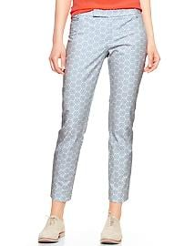 Slim cropped print pants