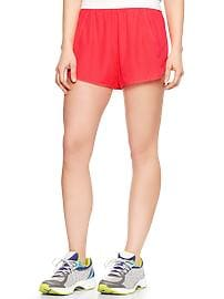 GapFit perforated woven running shorts