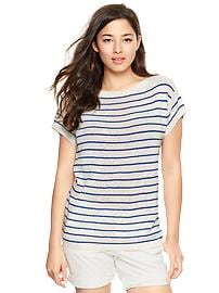 Square striped tunic