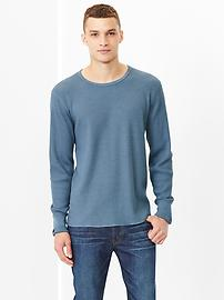 Heavyweight exploded waffle knit top