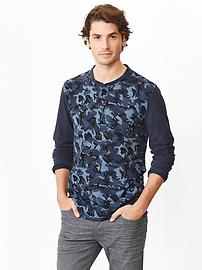 Lived-in camo henley