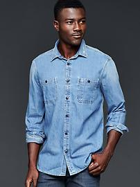 Iconic denim worker shirt