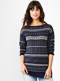 Fair isle boatneck tunic