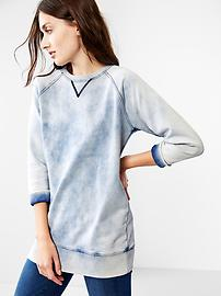 Cloud wash sweatshirt tunic