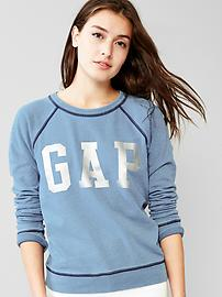 Metallic logo sweatshirt