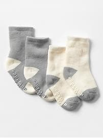 Organic colorblock socks (2-pack)