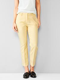Stretch tailored crop pants
