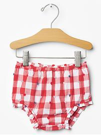 Gingham swiss dot bloomers