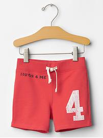 Graphic knit shorts