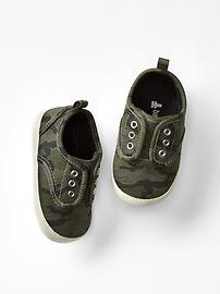 Slip-on camo sneakers