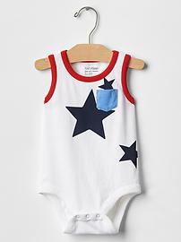 Star colorblock bodysuit