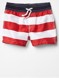 Americana star & stripe swim trunks