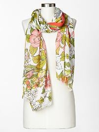 Floral bloom scarf