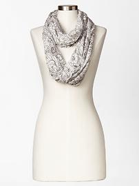 Floral burnout infinity scarf