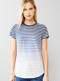 Burnout ombre stripe tee