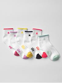 Star quarter socks (6-pack)