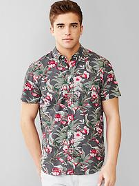 Lived-in floral print shirt
