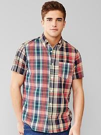 Lived-in wash madras shirt