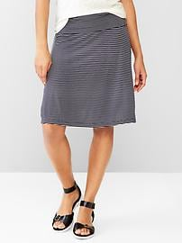 Stripe foldover skirt