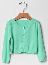 Shirred cardigan