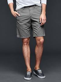 """Lived-in flat front shorts (10"""")"""