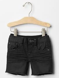 Pull-on cut-off shorts