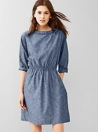 Chambray relaxed dress