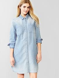 1969 linen denim shirtdress