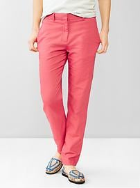 Broken-in-straight linen pants