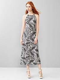 Tropical panel maxi dress