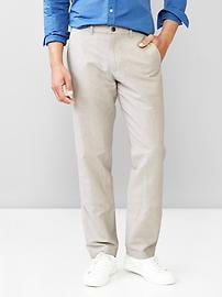 The new linen-cotton khaki (straight fit)