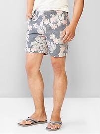 "Kennedy tropical print shorts (7"")"