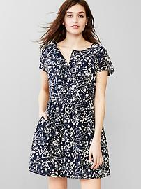 Printed relaxed shirtdress