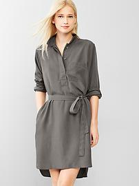Tencel&#174 belted shirtdress