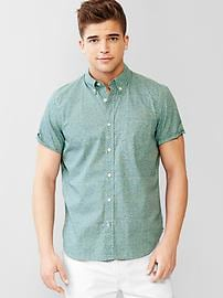 Lived-in geo print shirt