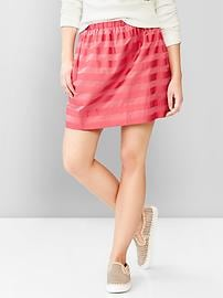 Stripe dobby skirt