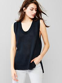 Sweater tank top