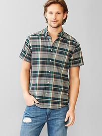 Lived-in grant plaid shirt