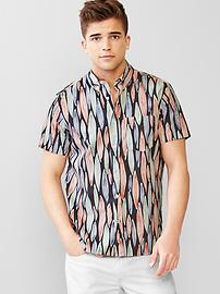 Lived-in surf print shirt