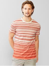 Lived-in southwest stripe pocket t-shirt