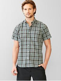 Lived-in park plaid shirt