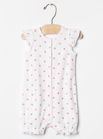 Dot terry one-piece