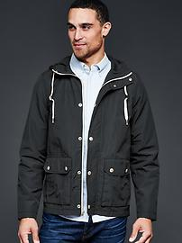 Two-pocket parka jacket