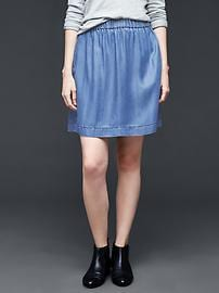 1969 Tencel® denim indigo circle skirt