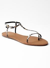 Thin t-strap sandals