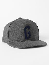 Graphic wool empire baseball hat