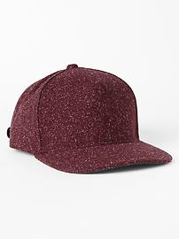 Speckled wool empire baseball hat