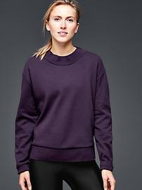 GapFit side-zip ponte sweatshirt